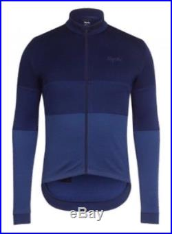 Rapha Classic Long Sleeve Tricolour Jersey Navy BNWT Size L
