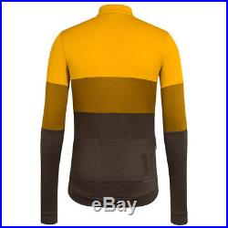 Rapha Classic Long Sleeve Tricolour Jersey Old Gold Size Medium BNWT