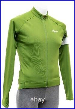 Rapha Core Long Sleeve Thermal Jersey Men SMALL Green Road Bike Gravel Mountain