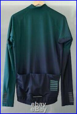Rapha Cycling Pro Team Long Sleeve Thermal Jersey Green Size S