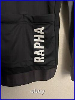 Rapha Cycling Pro Team Training Jersey Long Sleeve Black Grey Size Large