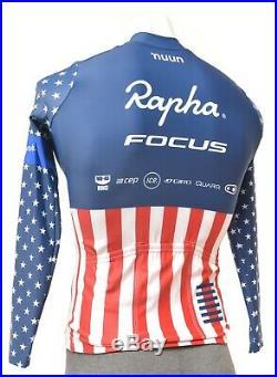 Rapha Focus USA Champ Pro Team Long Sleeve Cross Aero Jersey Men SMALL Bike CX