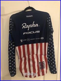 Rapha Focus US National Champion Long Sleeve Aero Jersey Size-Medium