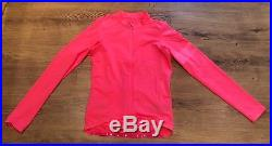 Rapha High Vis Pink Pro Team Long Sleeve Midweight Jersey. Size Small. BNWT