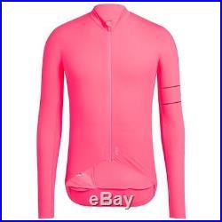 Rapha High Vis Pink Pro Team Long Sleeve Thermal Jersey. Size Medium. BNWT bf3effa07