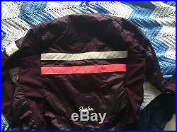 Rapha Insulated Brevet Jersey Long Sleeve Size M Medium Maroon Color