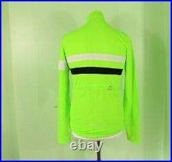 Rapha Long Sleeve Brevet Jersey Merino Wool & Polyester Green Medium