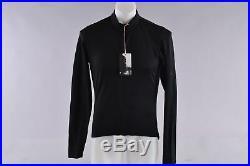 Rapha Long Sleeve Classic II Merino Wool Cycling Jersey Men's Large Black