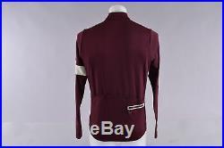 Rapha Long Sleeve Classic II Merino Wool Cycling Jersey Men's Large Burgandy