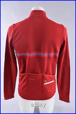 Rapha Long Sleeve Country Cycling Wool Jersey Men's Large Norway Red White Blue