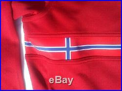 Rapha Long Sleeve Country Jersey Norway BNWT Size XL in Red Brand New 2013 Rare