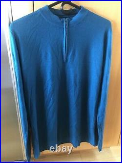 Rapha Long Sleeve Merino Jersey Blue 100% Merino Wool