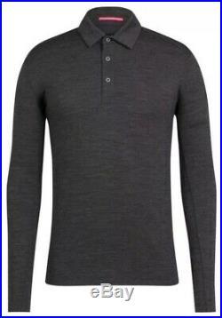 Rapha Long Sleeve Merino Polo Charcoal BNWT Size M