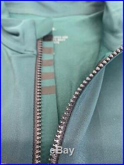 Rapha Long Sleeve Thermal Jersey Colourburn Small Dark Green Black New With Tag