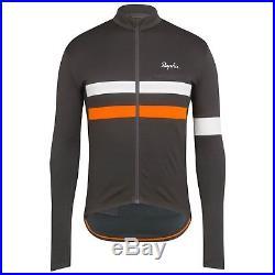 Rapha Men Cycling Jersey Brevet Long Sleeve XS S XL Gray Orange RCC Hi Viz NEW