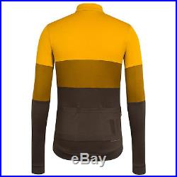 Rapha Men Cycling Jersey S L XXL Classic Long Sleeve Tri Color Old Gold RCC NEW