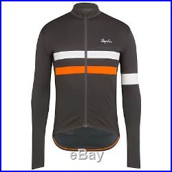 Rapha Men's Cycling Jersey Brevet Long Sleeve XS M XL Gray Orange RCC Hi Viz NEW