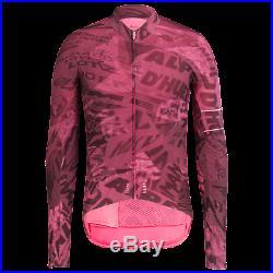 Rapha Men's Cycling Jersey Graffiti Print Long Sleeve Thermal S M RCC Pink NEW