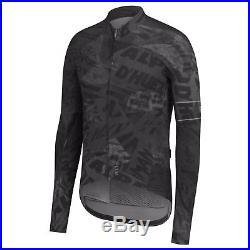 Rapha Men's Cycling Jersey Graffiti Print Long Sleeve Thermal XS S M RCC Black