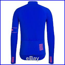 Rapha Men's Cycling Jersey Large L Pro Team Long Sleeve Thermal Blue RCC NEW