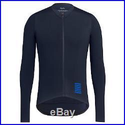 Rapha Men s Cycling Jersey Long Sleeve Aero XXL Pro Team RCC Navy Blue New 7c3243cc9