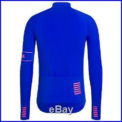 Rapha Men's Cycling Jersey M L Pro Team Long Sleeve Thermal Blue Hi-Vis RCC NEW