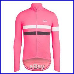 Rapha Men's Cycling Jersey XS M L XL XXL Brevet Long Sleeve Pink Hi-Vis RCC NEW