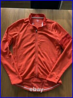 Rapha Men's Long Sleeve Classic Jersey Size Large Coral Merino Sport Wool