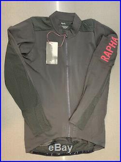 Rapha Men's Pro Team Long Sleeve Aero Jersey Carbon Grey Medium New With Tag