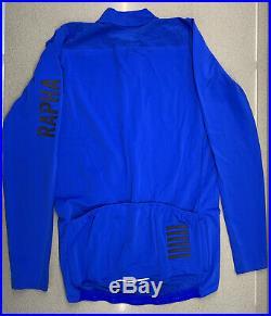 Rapha Men's Pro Team Long Sleeve Aero Jersey Ultramarine Size Large New With Tag