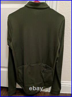 Rapha Mens Classic Long Sleeve Jersey II (Dark Olive, Medium)