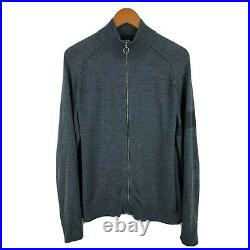 Rapha Mens Merino Wool Track Cycling Top Size XL Grey Long Sleeve Full Zip