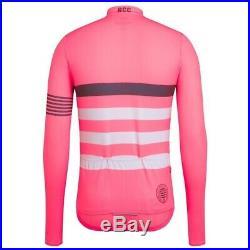 Rapha Mens RCC Pro Team Long Sleeve Midweight Jersey Hi-Vis Pink Size M