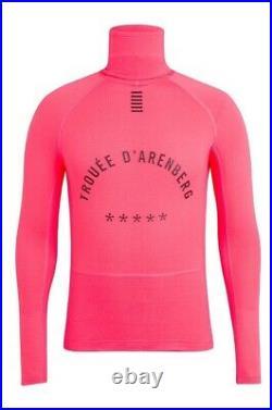 Rapha PRO TEAM Long Sleeve Thermal Base Layer High-Viz Pink BNWT Size L