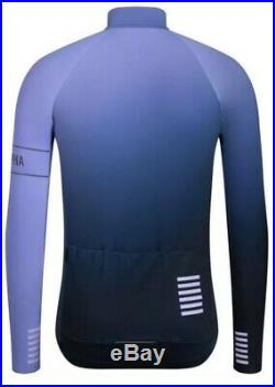 Rapha PRO TEAM Long Sleeve Thermal Colourburn Jersey Blue/Navy BNWT Size M