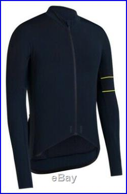 Rapha PRO TEAM Long Sleeve Thermal Jersey Dark Navy Chartreuse BNWT Size M