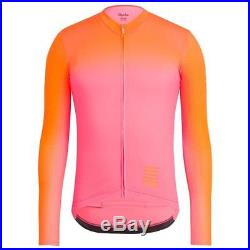 Rapha Pink/Orange Pro Team Aero Jersey Colourburn Long Sleeve. Size S. BNWT