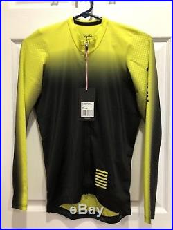 Rapha Pro Team Aero Colorburn Long SleevEmedium -yellowithBlack -new W Tag
