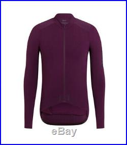 Rapha Pro Team Aero Cycling Racing Jersey Plum Purple Long Sleeve Large