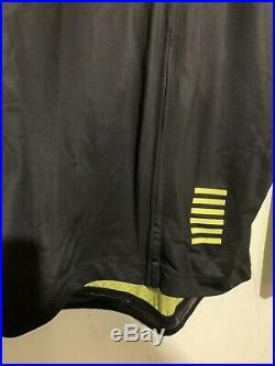 Rapha Pro Team Colourburn Aero Long Sleeve Jersey Mens Medium Rcc Fluo Yellow