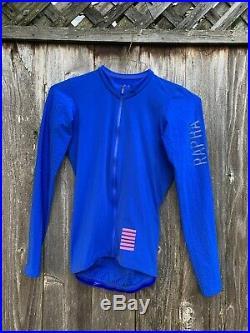 Rapha Pro Team Long Sleeve Aero Cycling Jersey Mens Medium Blue