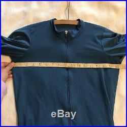 Rapha Pro Team Long Sleeve Aero Jersey Blue Zip Up SZ Medium