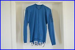 Rapha Pro Team Long Sleeve Aero Jersey Men's Medium Blue