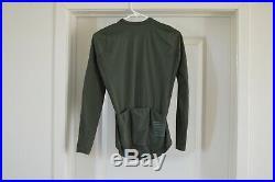 Rapha Pro Team Long Sleeve Aero Jersey Men's Medium Dark Green