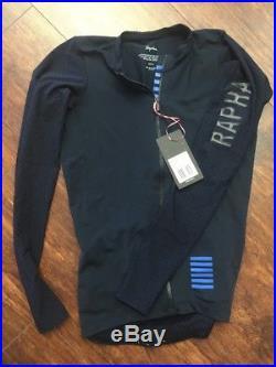 Rapha Pro Team Long Sleeve Aero Jersey S SMALL NAVY Cycling RCC Hi Vis NEW 7ee7e8b10