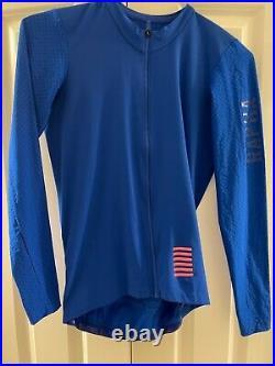 Rapha Pro Team Long Sleeve Aero Jersey in Ultra Marine Mens Large withMatching PT