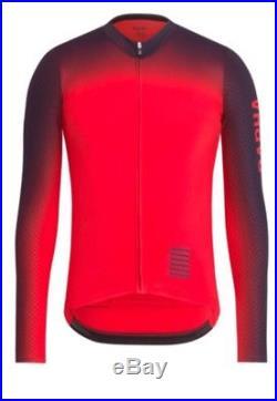 Rapha Pro Team Long Sleeve Colourburn Aero Jersey Red Large BNWT