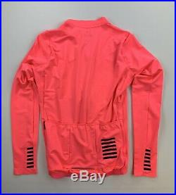 Rapha Pro Team Long Sleeve Mid Weight Jersey Pink Size Men's Small New