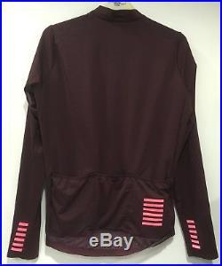 Rapha Pro Team Long Sleeve Midweight Jersey Burgundy Large BNWT