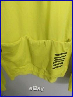 Rapha Pro Team Long Sleeve Thermal Jersey Colourburn Large Hi-Vis Yellow